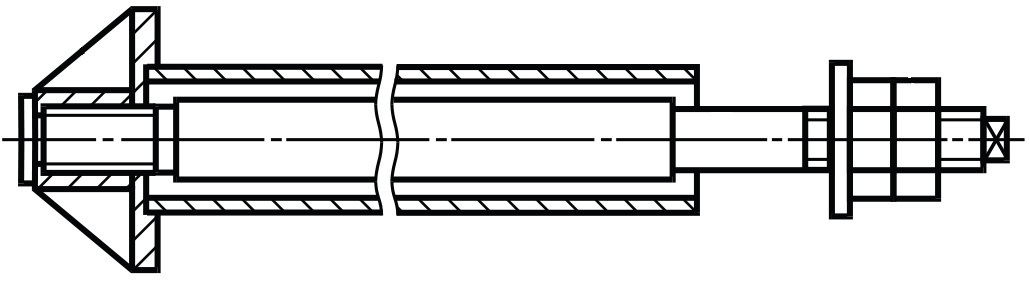 Фундаментный болт ГОСТ 24379.1-2012 тип 4 исполнение 3